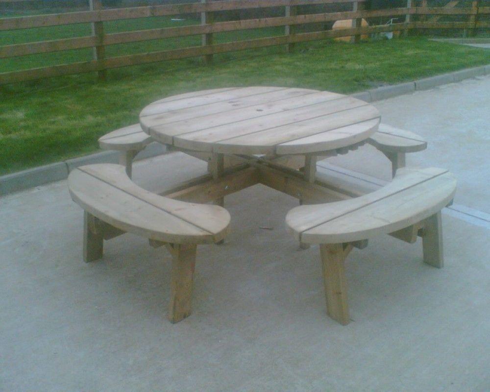 Custom made wooden garden furniture.