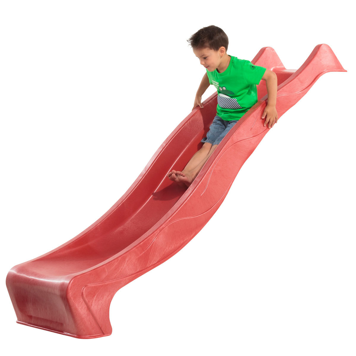 10ft (3m) Heavy Duty Red Wavy Slide for Climbing Frame or Treehouse ...