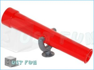 Playaway days red pirate boat telescope accessory for wooden climbing frame